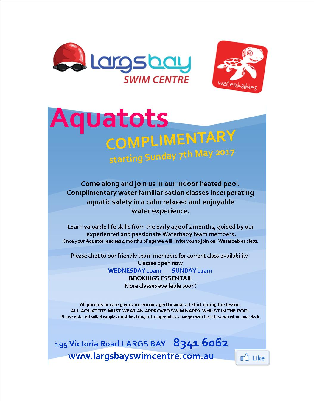 largs bay swim centre complimentary sessions